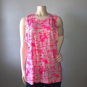 Reebok ladies neon pink tank Size L